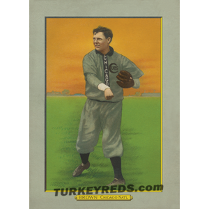 Three Finger Brown - Chicago Cubs Turkey Reds Cabinet Card file