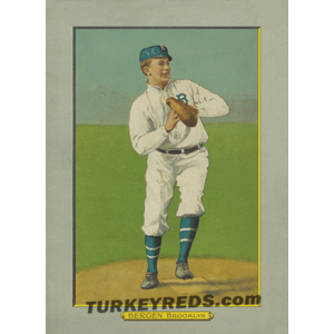 Bill Bergen – Brooklyn Dodgers Turkey Red Cabinets Card