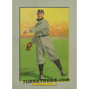 Sam Crawford - Detroit Tigers Turkey Reds Cabinet Card file