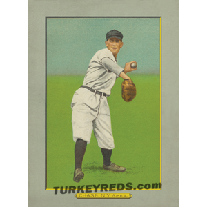 Hal Chase of the New York Yankees, Turkey Reds Cabinet Card scan