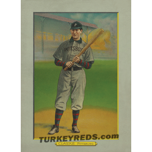 Fred Clifford Clarke - Pittsburgh Pirates Turkey Red Cabinets Card