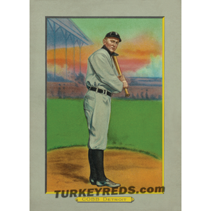 Ty Cobb Detroit Tigers Turkey Reds Cabinet Card file