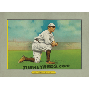John McGraw New York Giants Turkey Reds Cabinet Card restored digital art file